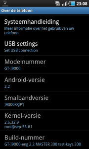 Samsung Galaxy Android 2.2 Froyo