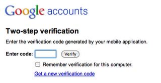 Zwei-Faktor Authentifizierung für Google Apps
