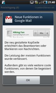 Google Mail für Android