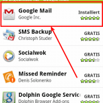 GMail Android App im Market