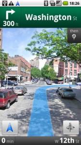 Google Navigation Streetview
