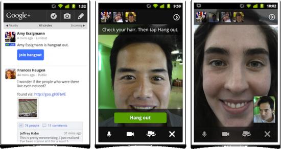 Google+ Hangout für Android