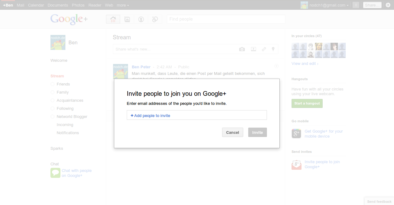 Google Plus Invites