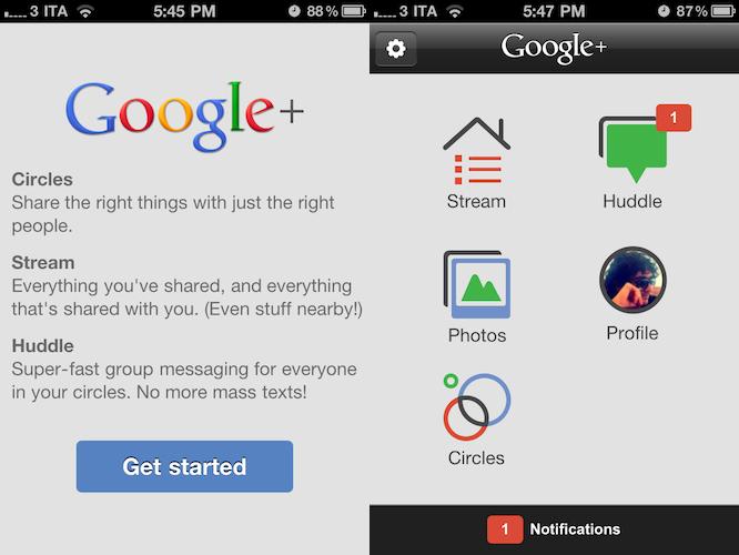 Offizielle Google+ App für iPhone