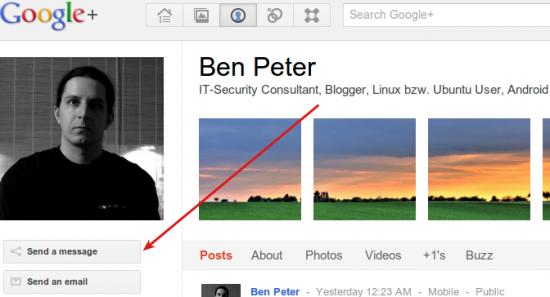 Google+ Nachrichtensystem