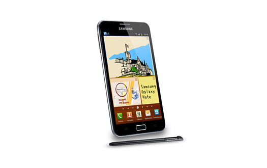 Samsung Galaxy Note Frontansicht