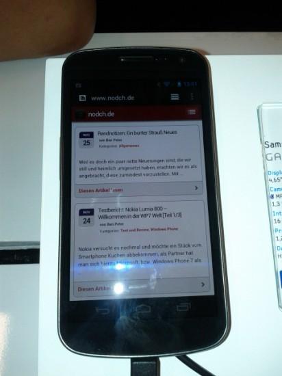 GTUG Zürich Vorstellung Samsung Galaxy Nexus