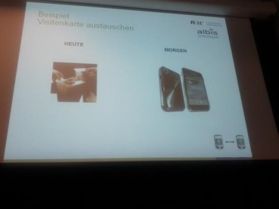 GTUG Zürich Prsentation NFC Visitenkartentausch