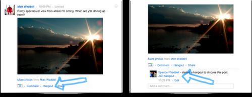 Beitragsbezogene Hangouts auf Google+