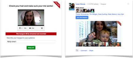 Google+ Hangouts On-Air