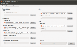 Heimdall Ubuntu Beispiel: Firmware JPX