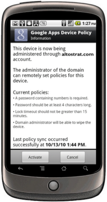 Android Geräte mit Google Apps verwalten und Sicherheitsrichtlinien durchsetzen