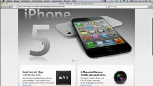iPhone 5? (Screenshot aus dem Youtube Video)