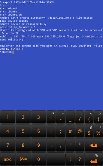 Ubuntu unter Android starten