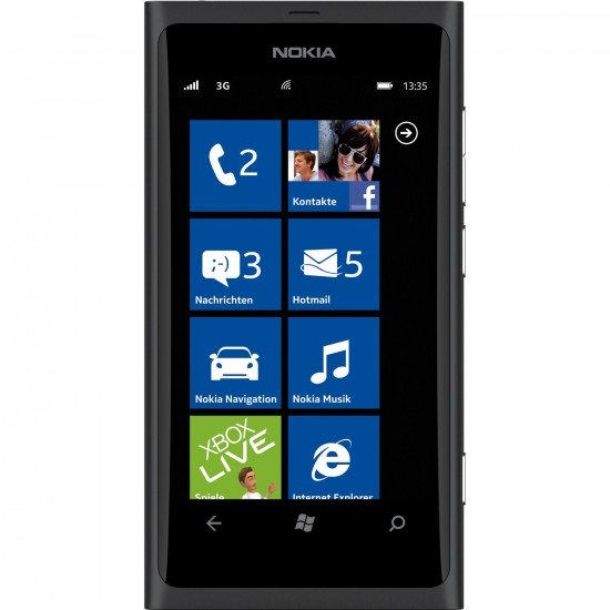 Nokia Lumia 800 Frontansicht (Produktfoto Amazon)