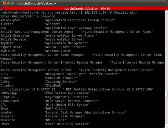 Net RPC Aufruf unter Ubuntu Linux