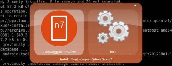 Ubuntu Nexus 7 Desktop Installer