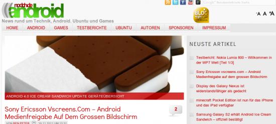 Nodch.de Android Kategorie