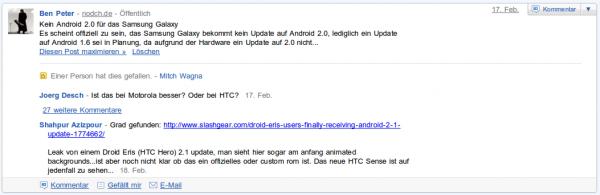 Nodch.de Buzz Kein Android 2.0 für das Samsung Galaxy