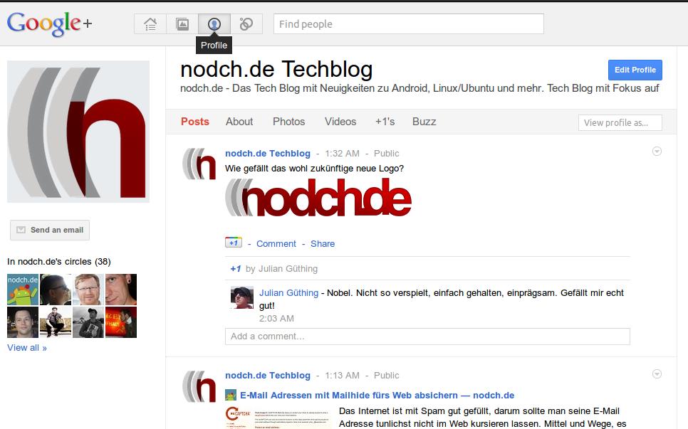 Google+ Profil von nodch.de