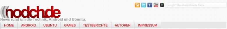 Nodch.de neuer Header und neues Logo