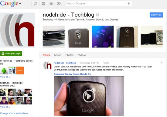 Nodch.de Google+ Page (Klick auf das Bild führt direkt zur Seite auf Google+)