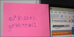 F-Secure: password on post it