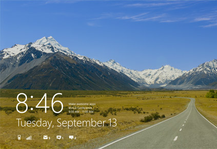 Windows 8 Lockscreen (Bild: Microsoft)