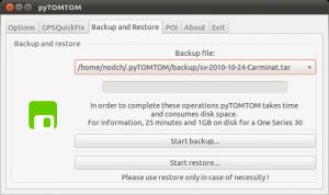 pyTOMTOM Linux Backup TomTom