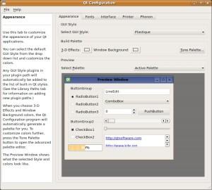 qtconfig-qt4 GUI Style ändern