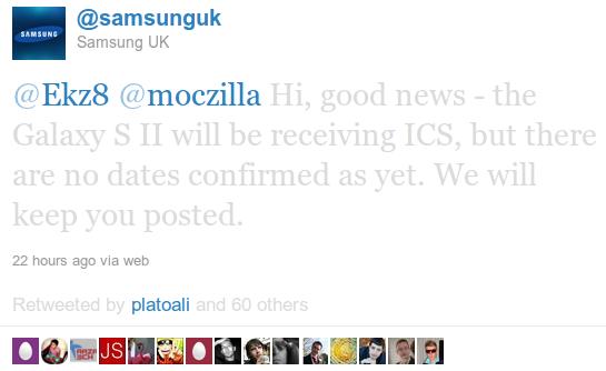 Screenshot Twitter samsunguk