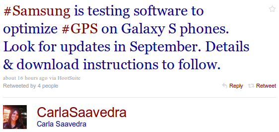 GPS Software Update für Samsung Galaxy S