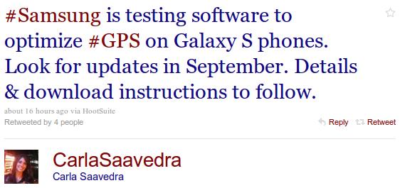 GPS Software Update für Samsung Galaxy S