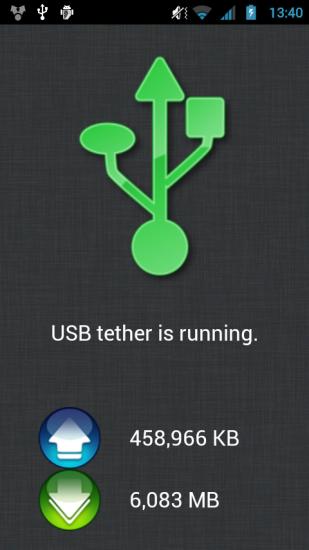 ClockworkMod Tether Alpha Android Screenshot