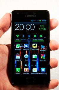 Samsung Galaxy S II Frontansicht