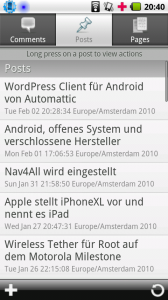 WordPress Client für Android