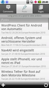 WordPress Client für Android
