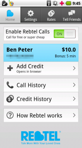 Rebtel VoIP Android App