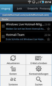 Hotmail Exchange ActiveSync auf Android
