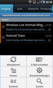 Hotmail Exchange ActiveSync auf Android