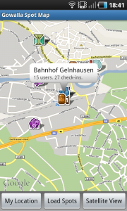 Gowalla Spot Map für Android