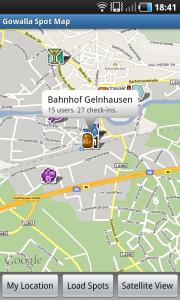 Gowalla Spot Map für Android