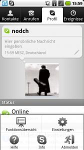 Skype für Android: Profil und Einstellungen