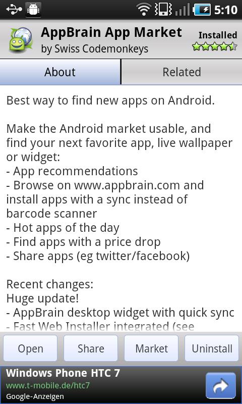 AppBrain V5 Android