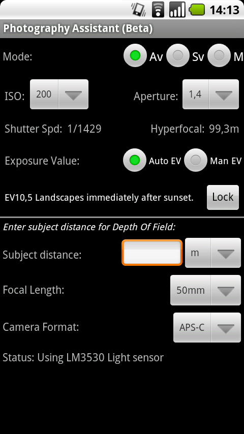 Photography Assistant Android