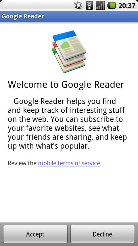 Google Reader für Android