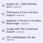 Google Reader Android Feedansicht