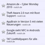 Google Reader Android Feedansicht