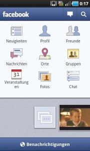 Facebook für Android mit Chat