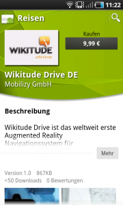 Wikitude Drive im Android Market